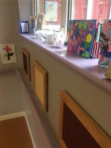 Tactile artwork in the Anne Sullivan centre