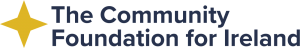 Words for The Community Foundation for Ireland with gold star logo